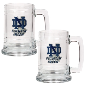 Notre Dame Fighting Irish 2pc 15oz Glass Tankard Set