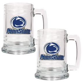 Penn State Nittany Lions 2pc 15oz Glass Tankard Set