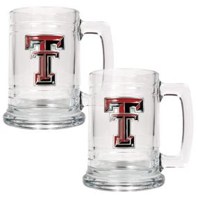 Texas Tech Red Raiders 2pc 15oz Glass Tankard Set