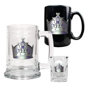 Los Angeles Kings 15oz Tankard, 15oz Ceramic Mug & 2oz Shot Glass Set