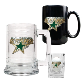 Dallas Stars 15oz Tankard, 15oz Ceramic Mug & 2oz Shot Glass Set