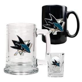 San Jose Sharks 15oz Tankard, 15oz Ceramic Mug & 2oz Shot Glass Set