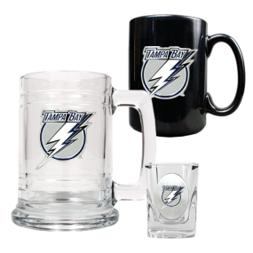 Tampa Bay Lightning 15oz Tankard, 15oz Ceramic Mug & 2oz Shot Glass Set