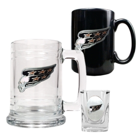 Washington Capitals 15oz Tankard, 15oz Ceramic Mug & 2oz Shot Glass Set