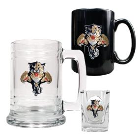 Florida Panthers 15oz Tankard, 15oz Ceramic Mug & 2oz Shot Glass Set