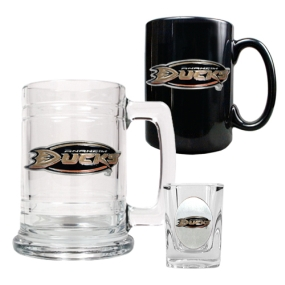 Anaheim Ducks 15oz Tankard, 15oz Ceramic Mug & 2oz Shot Glass Set