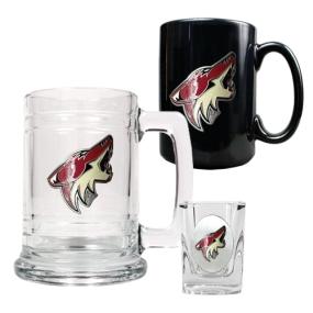 Phoenix Coyotes 15oz Tankard, 15oz Ceramic Mug & 2oz Shot Glass Set