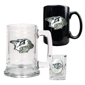Nashville Predators 15oz Tankard, 15oz Ceramic Mug & 2oz Shot Glass Set
