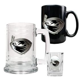 Atlanta Thrashers 15oz Tankard, 15oz Ceramic Mug & 2oz Shot Glass Set