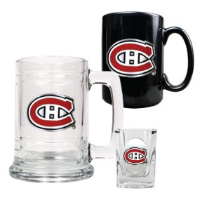 Montreal Canadiens 15oz Tankard, 15oz Ceramic Mug & 2oz Shot Glass Set