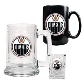 Edmonton Oilers 15oz Tankard, 15oz Ceramic Mug & 2oz Shot Glass Set