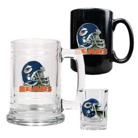 Chicago Bears 15oz Tankard, 15oz Ceramic Mug & 2oz Shot Glass Set