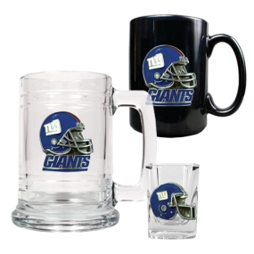 New York Giants 15oz Tankard, 15oz Ceramic Mug & 2oz Shot Glass Set