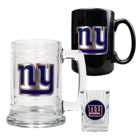 New York Giants 15oz Tankard, 15oz Ceramic Mug & 2oz Shot Glass Set