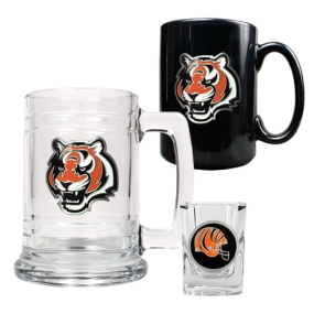 Cincinnati Bengals 15oz Tankard, 15oz Ceramic Mug & 2oz Shot Glass Set