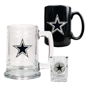 Dallas Cowboys 15oz Tankard, 15oz Ceramic Mug & 2oz Shot Glass Set