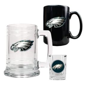 Philadelphia Eagles 15oz Tankard, 15oz Ceramic Mug & 2oz Shot Glass Set
