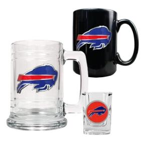 Buffalo Bills 15oz Tankard, 15oz Ceramic Mug & 2oz Shot Glass Set