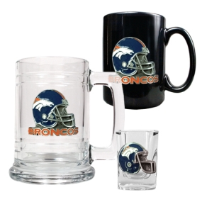 Denver Broncos 15oz Tankard, 15oz Ceramic Mug & 2oz Shot Glass Set