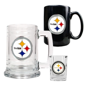 Pittsburgh Steelers 15oz Tankard, 15oz Ceramic Mug & 2oz Shot Glass Set