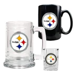 Pittsburgh Steelers 15oz Tankard, 15oz Ceramic Mug & 2oz Shot Glass Set