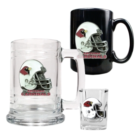 Arizona Cardinals 15oz Tankard, 15oz Ceramic Mug & 2oz Shot Glass Set