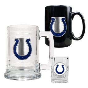 Indianapolis Colts 15oz Tankard, 15oz Ceramic Mug & 2oz Shot Glass Set