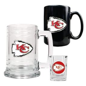 Kansas City Chiefs 15oz Tankard, 15oz Ceramic Mug & 2oz Shot Glass Set
