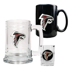 Atlanta Falcons 15oz Tankard, 15oz Ceramic Mug & 2oz Shot Glass Set