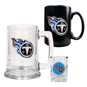 Tennessee Titans 15oz Tankard, 15oz Ceramic Mug & 2oz Shot Glass Set