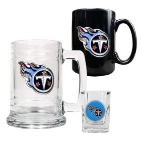 Tennessee Titans 15oz Tankard, 15oz Ceramic Mug & 2oz Shot Glass Set