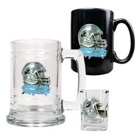 Carolina Panthers 15oz Tankard, 15oz Ceramic Mug & 2oz Shot Glass Set