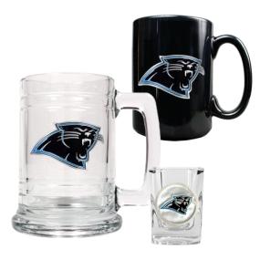 Carolina Panthers 15oz Tankard, 15oz Ceramic Mug & 2oz Shot Glass Set