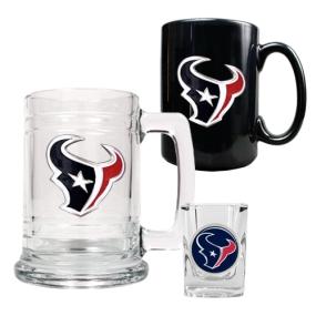 Houston Texans 15oz Tankard, 15oz Ceramic Mug & 2oz Shot Glass Set