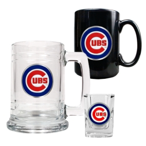 Chicago Cubs 15oz Tankard, 15oz Ceramic Mug & 2oz Shot Glass Set
