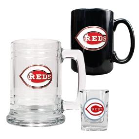 Cincinnati Reds 15oz Tankard, 15oz Ceramic Mug & 2oz Shot Glass Set