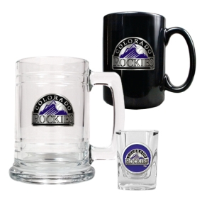 Colorado Rockies 15oz Tankard, 15oz Ceramic Mug & 2oz Shot Glass Set