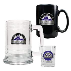 Colorado Rockies 15oz Tankard, 15oz Ceramic Mug & 2oz Shot Glass Set