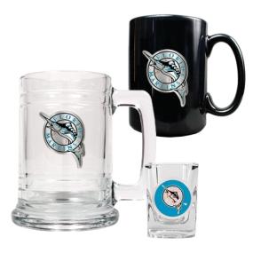 Florida Marlins 15oz Tankard, 15oz Ceramic Mug & 2oz Shot Glass Set