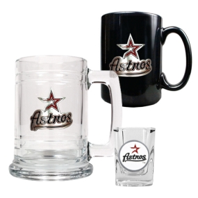 Houston Astros 15oz Tankard, 15oz Ceramic Mug & 2oz Shot Glass Set