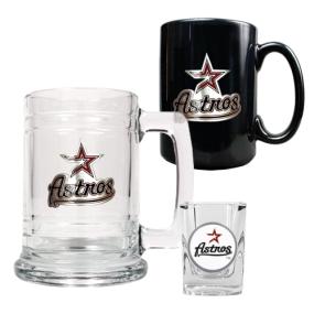 Houston Astros 15oz Tankard, 15oz Ceramic Mug & 2oz Shot Glass Set