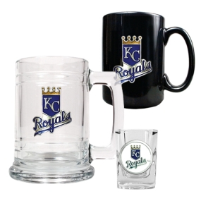 Kansas City Royals 15oz Tankard, 15oz Ceramic Mug & 2oz Shot Glass Set