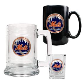 New York Mets 15oz Tankard, 15oz Ceramic Mug & 2oz Shot Glass Set