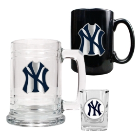 New York Yankees 15oz Tankard, 15oz Ceramic Mug & 2oz Shot Glass Set