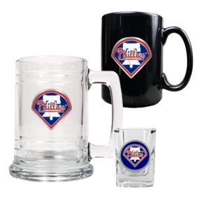 Philadelphia Phillies 15oz Tankard, 15oz Ceramic Mug & 2oz Shot Glass Set