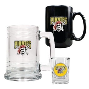 Pittsburgh Pirates 15oz Tankard, 15oz Ceramic Mug & 2oz Shot Glass Set