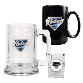 San Diego Padres 15oz Tankard, 15oz Ceramic Mug & 2oz Shot Glass Set