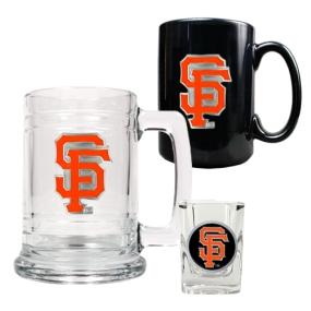 San Francisco Giants 15oz Tankard, 15oz Ceramic Mug & 2oz Shot Glass Set