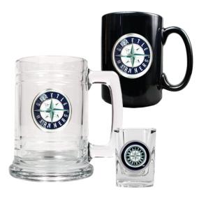 Seattle Mariners 15oz Tankard, 15oz Ceramic Mug & 2oz Shot Glass Set