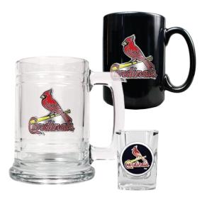Saint Louis Cardinals 15oz Tankard, 15oz Ceramic Mug & 2oz Shot Glass Set